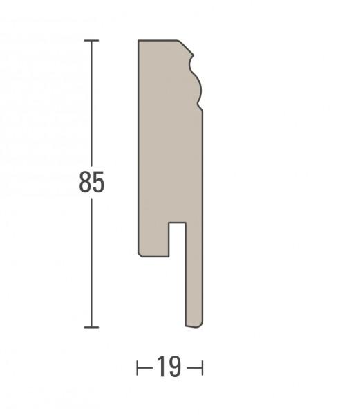 Parador Sockelleiste Hamburger Profil HL 2 Dekor Uni weiß D001 – Bild 2