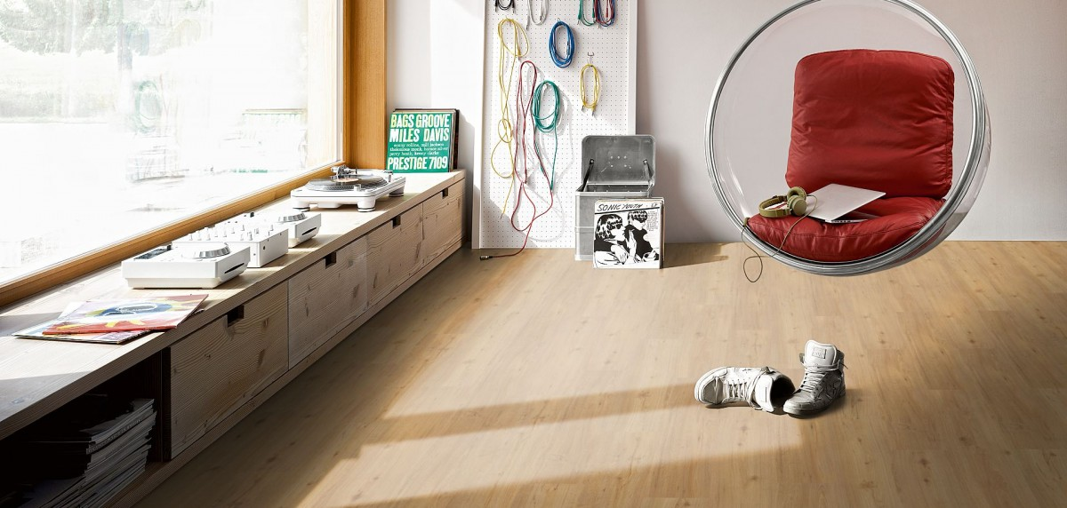 Großartig PARADOR Vinyl Basic 30 Eiche natur Holzstruktur Landhausdiele mit  KK14