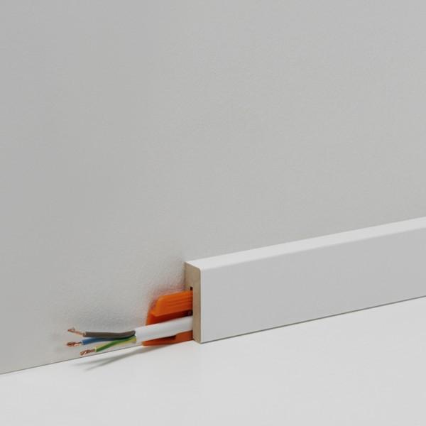 Fußleisten Weiß parador 40mm sockelleiste sl 3 uni weiß d001 sockelleisten parador