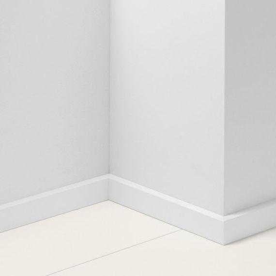 Parador 40mm Sockelleiste SL 3 Uni weiß D001 Artikel-Nr.: 1437075 – Bild 1