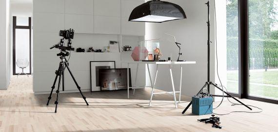 PARADOR Parkett Classic 3060 SB 3-Stab Esche lackversiegelt matt weiß, Living – Bild 4