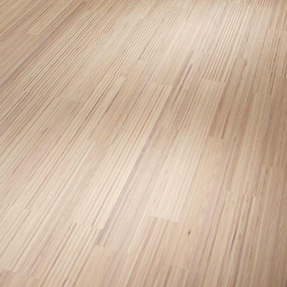 PARADOR Parkett Classic 3060 SB 3-Stab Esche Finelinemuster Natur, lackversiegelt matt weiß – Bild 1