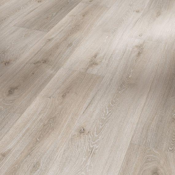PARADOR Vinyl Basic 4.3 Eiche grau geweißt Gebürstete Struktur Landhausdiele – Bild 1