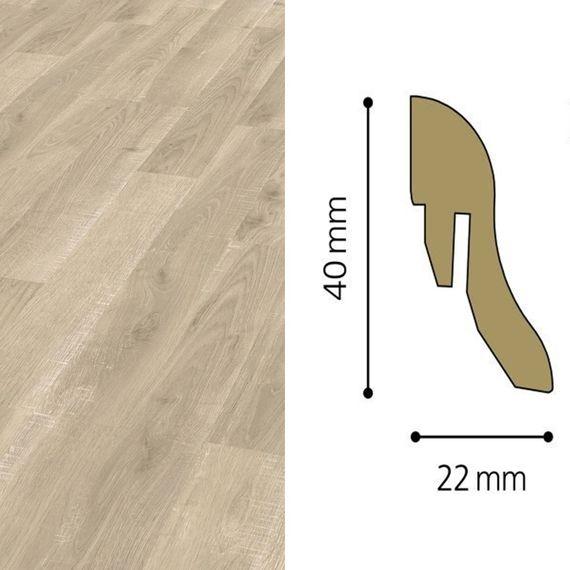 Sockelleiste passend zu Kronotex Dekor D2540 Cutter Oak, 40mm