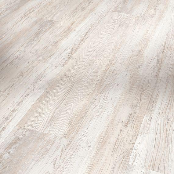 PARADOR Vinyl Basic 4.3 Pinie skandinavisch weiß Gebürstete Struktur Landhausdiele – Bild 1