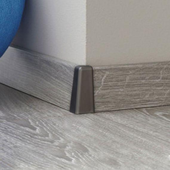 Außenecke silber grau passend zu KRONOTEX Sockelleiste Ktex 1 (58 x 19 x 2400 mm)