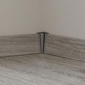 Innenecke silber grau passend zu KRONOTEX Sockelleiste Ktex 1 (58 x 19 x 2400 mm) 001