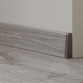 Endkappen / Abschlusskanten silber grau passend zu KRONOTEX Sockelleiste Ktex 1 (58 x 19 x 2400 mm) 001