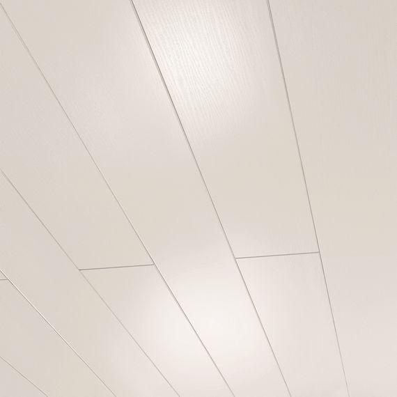 PARADOR Paneele Wand Decke Novara Esche weiß glänzend geplankt 2050 mm 1602367 umlaufende Null-Fuge – Bild 1