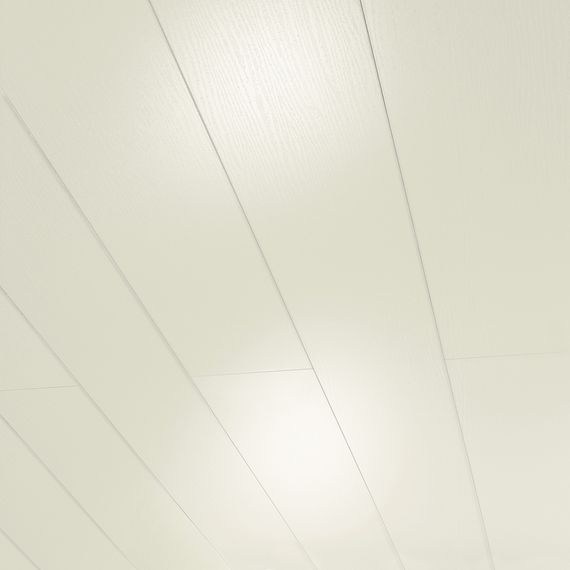 PARADOR Paneele Wand Decke RapidoClick Esche weiß glänzend geplankt 1280 mm 1134662 Design Fuge – Bild 1