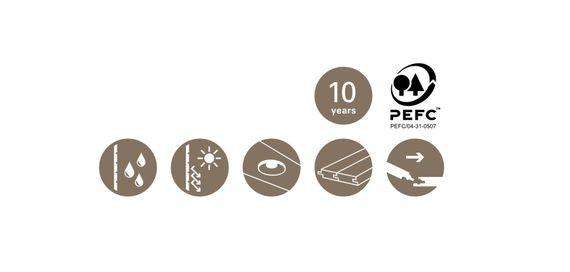 PARADOR Paneele Wand Decke RapidoClick Romana 1280 mm 1173944 Design Fuge – Bild 5