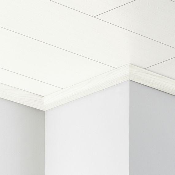 PARADOR Deckenabschlussleiste DAL 1 Esche weiß Deckenleiste 20 x 40 mm  – Bild 1
