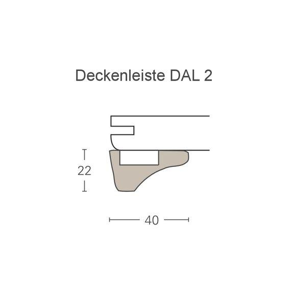 PARADOR Deckenabschlussleiste DAL 2 Esche weiß Deckenleiste 22 x 40 mm  – Bild 2