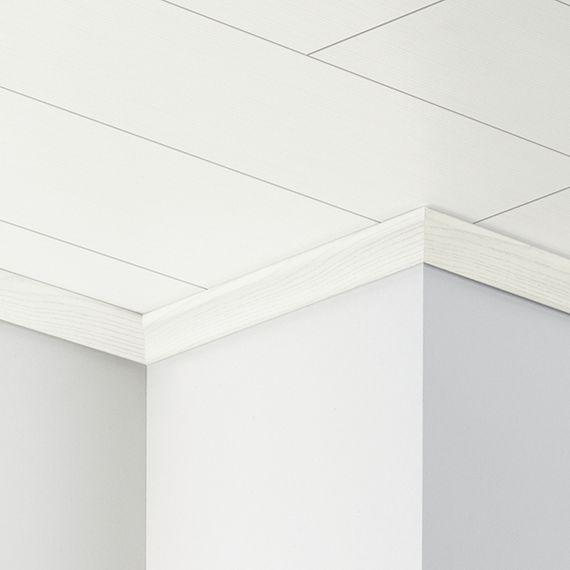 PARADOR Deckenabschlussleiste DAL 2 Esche weiß Deckenleiste 22 x 40 mm  – Bild 1