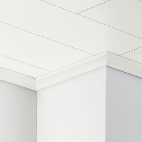 PARADOR Deckenabschlussleiste DAL 2 Seidenmatt weiß Deckenleiste 22 x 40 mm  – Bild 1