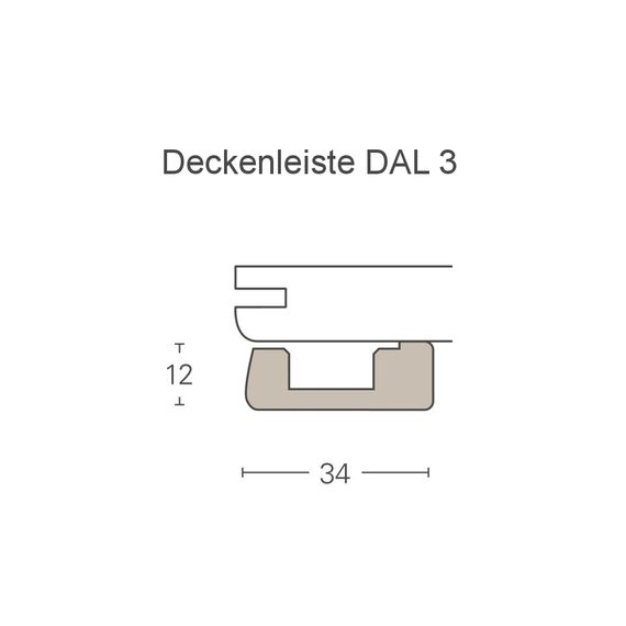 PARADOR Deckenabschlussleiste DAL 3 Eiche Vintage Deckenleiste 12 x 34 mm  – Bild 2