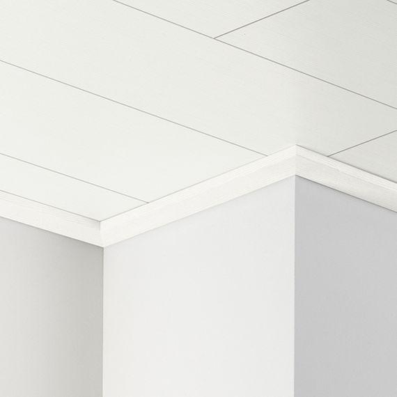 PARADOR Deckenabschlussleiste DAL 3 Pinie weiß Deckenleiste 12 x 34 mm  – Bild 1