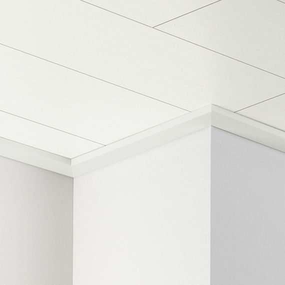 PARADOR Deckenabschlussleiste DAL 3 Seidenmatt weiß Deckenleiste 12 x 34 mm  – Bild 1