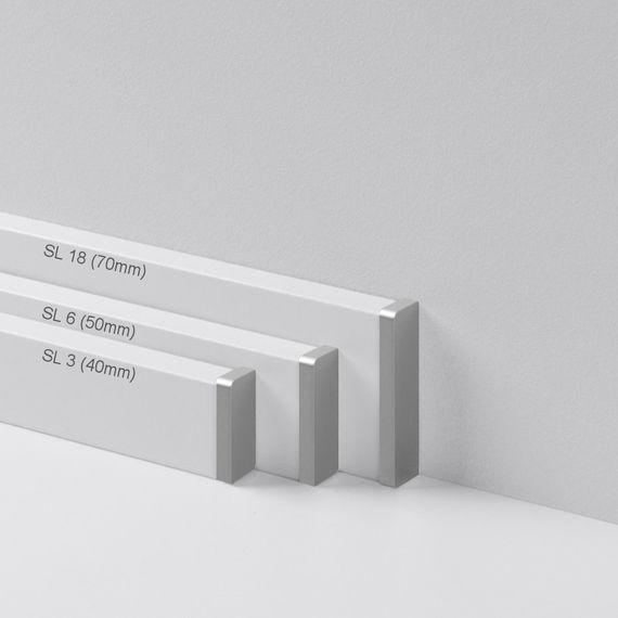 Parador Abschlußkappe Endkappe höhenvariabel Typ 2 Alu Optik für SL 3, SL 5, SL 6, SL 18