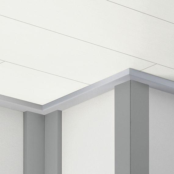PARADOR Deckenleiste Universalleiste ClickBoard Alu-Optik 1192696 Dekor (12 x 47mm) – Bild 1