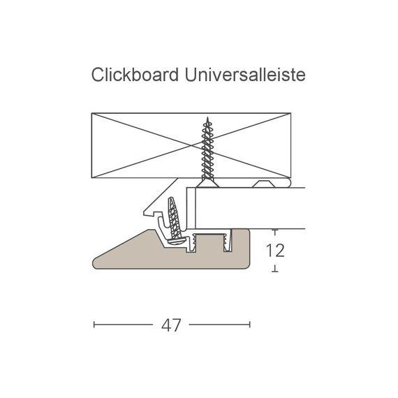 PARADOR Deckenleiste Universalleiste ClickBoard Weiß 1192682 Dekor (12 x 47mm) – Bild 2