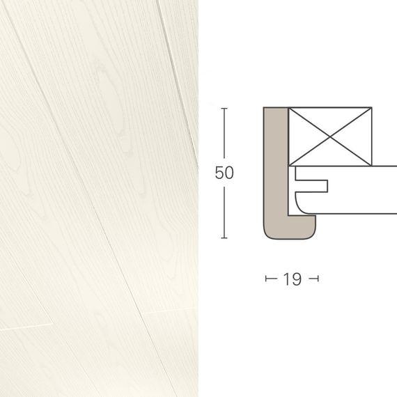 PARADOR Deckenleiste Falzleiste FL 1 Esche weiß 943028 Dekor (50 x 19 mm) – Bild 1