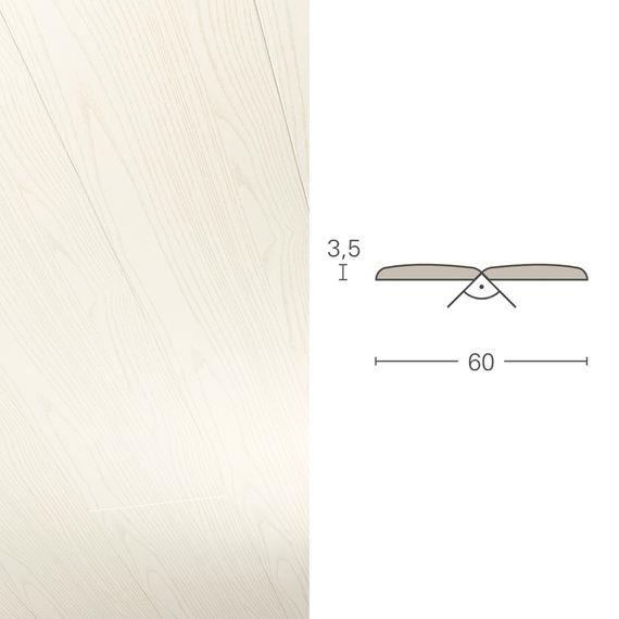 PARADOR Deckenleiste Falzleiste FAL Esche weiß 943186 Dekor (3,5 x 60 mm) – Bild 1