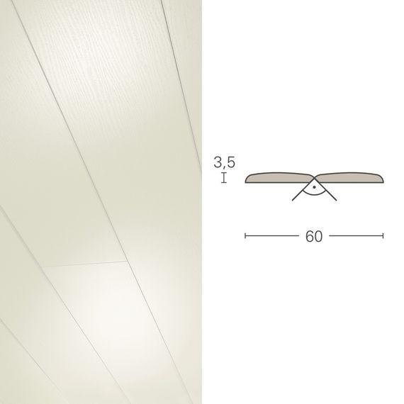 PARADOR Deckenleiste Falzleiste FAL Esche weiß glänzend 102745 Dekor (3,5 x 60 mm) – Bild 1