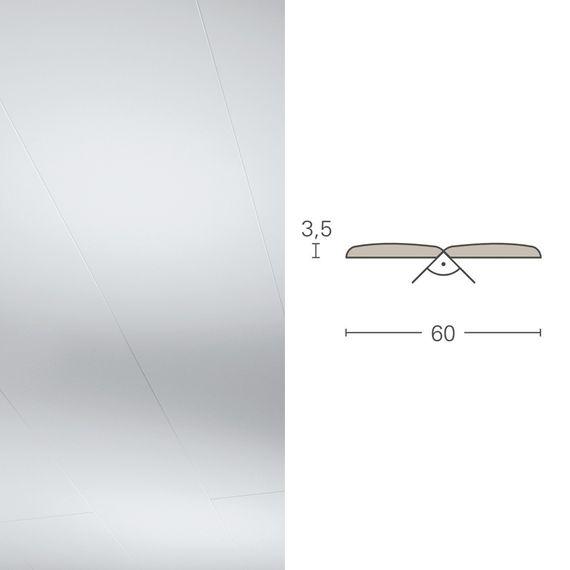 PARADOR Deckenleiste Falzleiste FAL Seidenmatt weiß 1602328 Dekor (3,5 x 60 mm) – Bild 1
