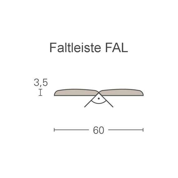 PARADOR Deckenleiste Falzleiste FAL Weiß hochglanz 1255167 Dekor (3,5 x 60 mm) – Bild 2