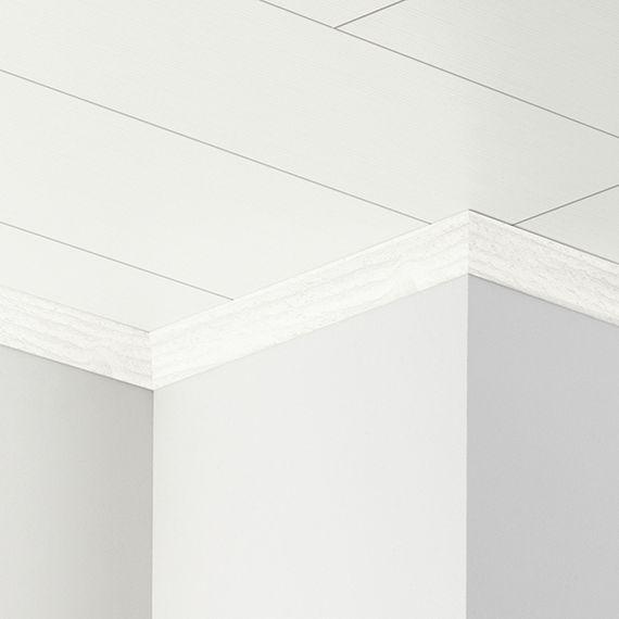 PARADOR Deckenleiste Hohlkehlleiste HKL Pinie weiß 1602342 Dekor (25 x 25 mm) – Bild 1