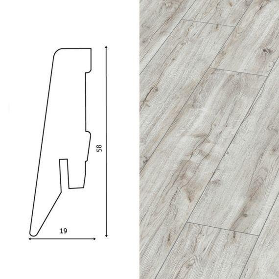 Sockelleiste passend zu Kronotex D3660 Montmelo Eiche Creme, 58mm, 8127-L