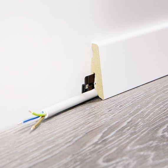 WINEO 19 / 58mm Sockelleiste Fußleiste Dekor Calm Oak Cream MDF-Träger – Bild 2