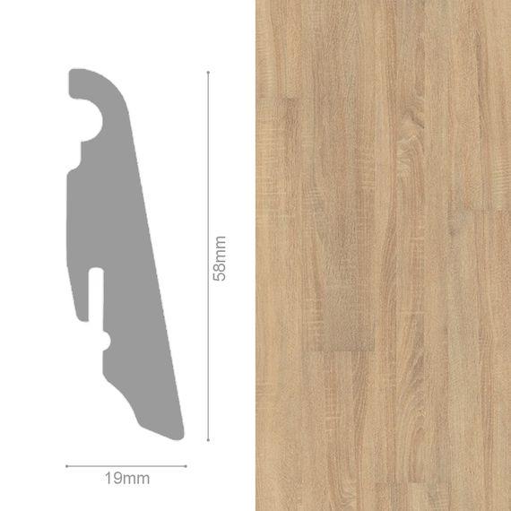 WINEO 19 / 58mm Sockelleiste Fußleiste Dekor Venero Oak beige MDF-Träger – Bild 1
