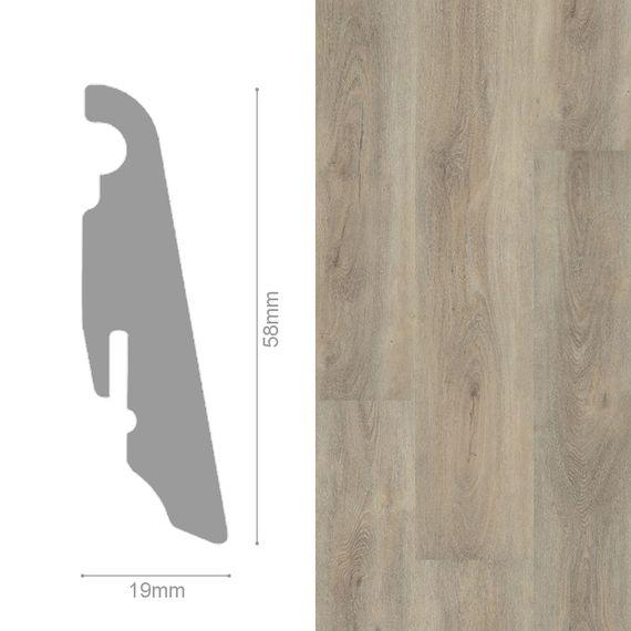 WINEO 19 / 58mm Sockelleiste Fußleiste Dekor Aumera Oak Native MDF-Träger – Bild 1