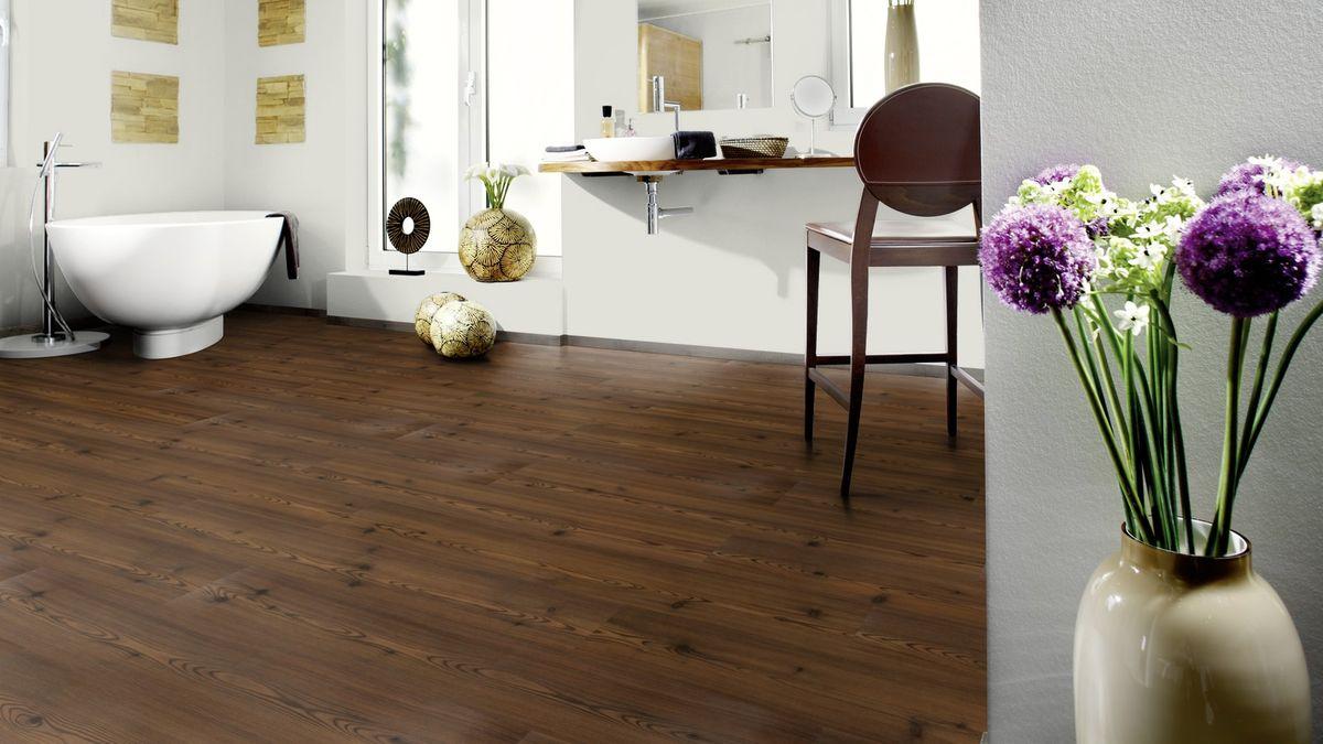 wineo purline klebe bioboden planke wood dekor aves brown. Black Bedroom Furniture Sets. Home Design Ideas