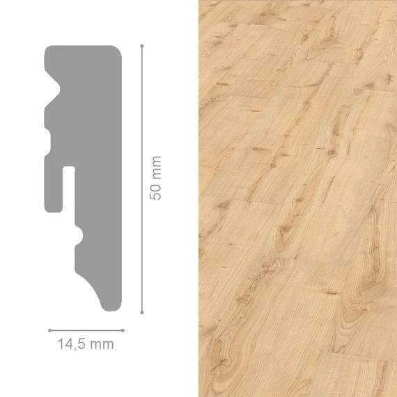 WINEO 14,5 / 50mm Sockelleiste Fußleiste Dekor Garden Oak Wasserfest – Bild 1