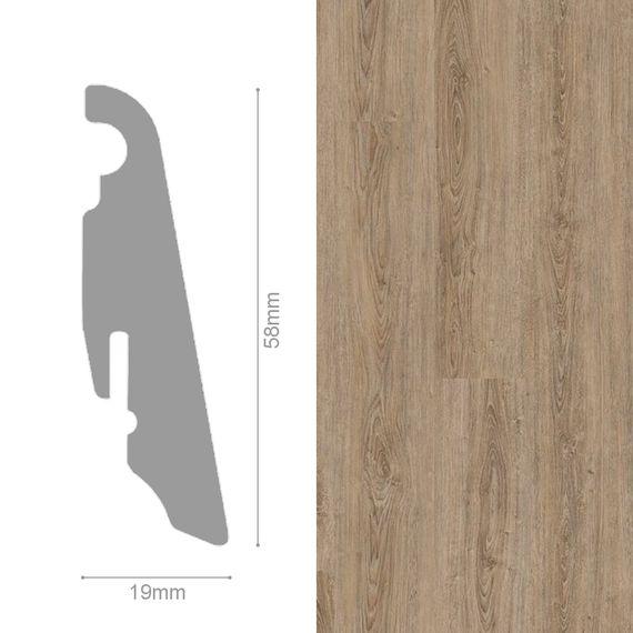 WINEO 19 / 58mm Sockelleiste Fußleiste Dekor Clay Calm Oak MDF-Träger – Bild 1