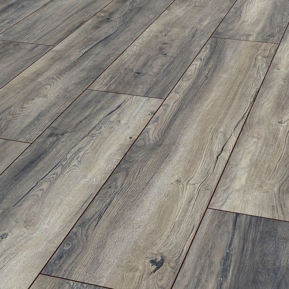Kronotex Laminat Exquisit plus Dekor D3572 Harbour Oak Grey 1-Stab V4 Fuge  – Bild 1
