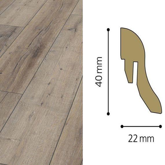 Sockelleiste passend zu Kronotex Dekor D3044 Rift Oak, 40mm, 7018-L