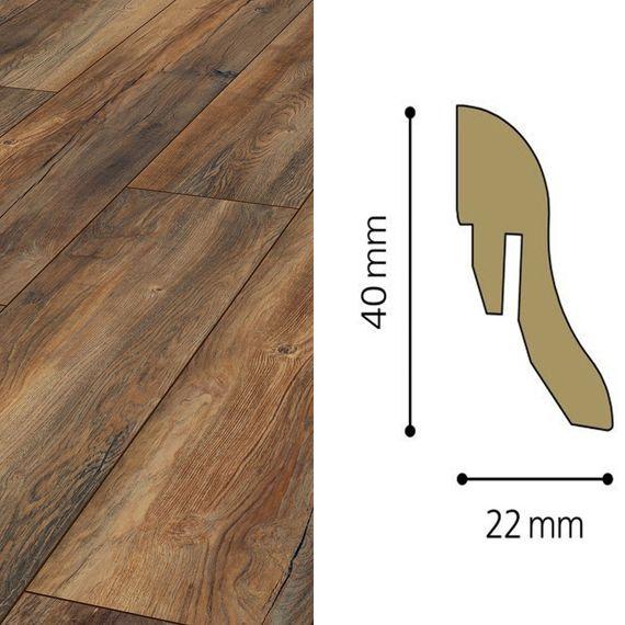 Sockelleiste passend zu Kronotex Dekor D3570 Harbour Oak, 40mm, 2905-L