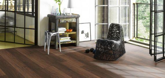 PARADOR Laminat Basic 200 Walnuss Holzstruktur Ohne Fuge Landhausdiele Artikel-Nr.: 1426419  – Bild 5