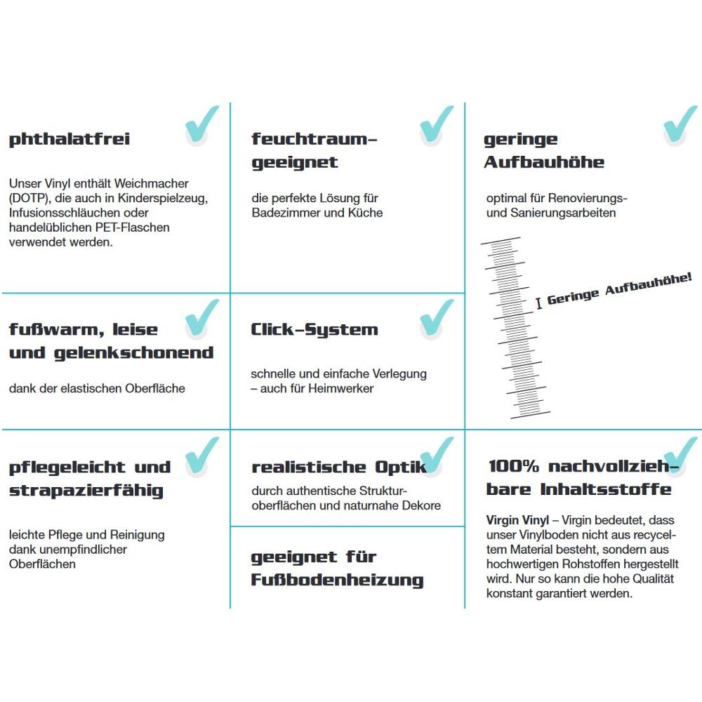CHECK Vinylboden CHECK one 0.3 Dekor Heinrich Eiche 2404o Landhausdiele 1-Stab ohne Fuge – Bild 8