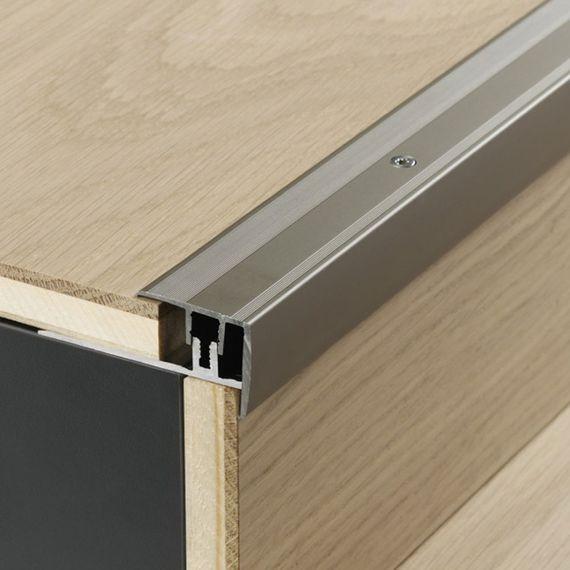 PARADOR Treppenkantenprofil für Parkett 8 - 18 mm Aluminium eloxiert Edelstahl 260 x 5,0 cm nur 21,89 €/lfm Artikel-Nr.: 1739878