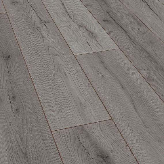 JANGAL Klick Laminat Dekor Grey Oak Eichenoptik grau Landhausdiele 4-V-Fuge Artikel-Nr.: 8054 – Bild 1