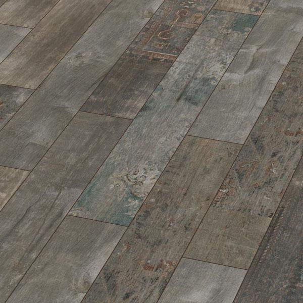 KRONOTEX Klick Laminat Exquisit Ahota D4805 Laminatboden in rustikaler Holzoptik mit farbigen Ornamenten – Bild 1