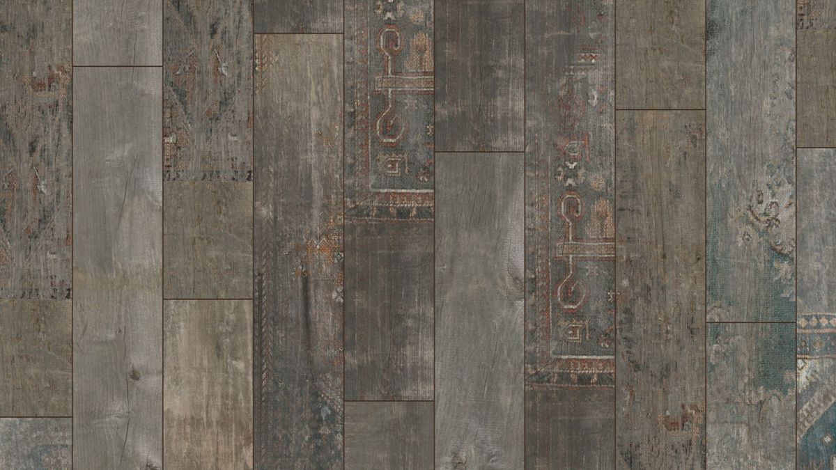 KRONOTEX Klick Laminat Exquisit Ahota D4805 Laminatboden in rustikaler Holzoptik mit farbigen Ornamenten – Bild 3